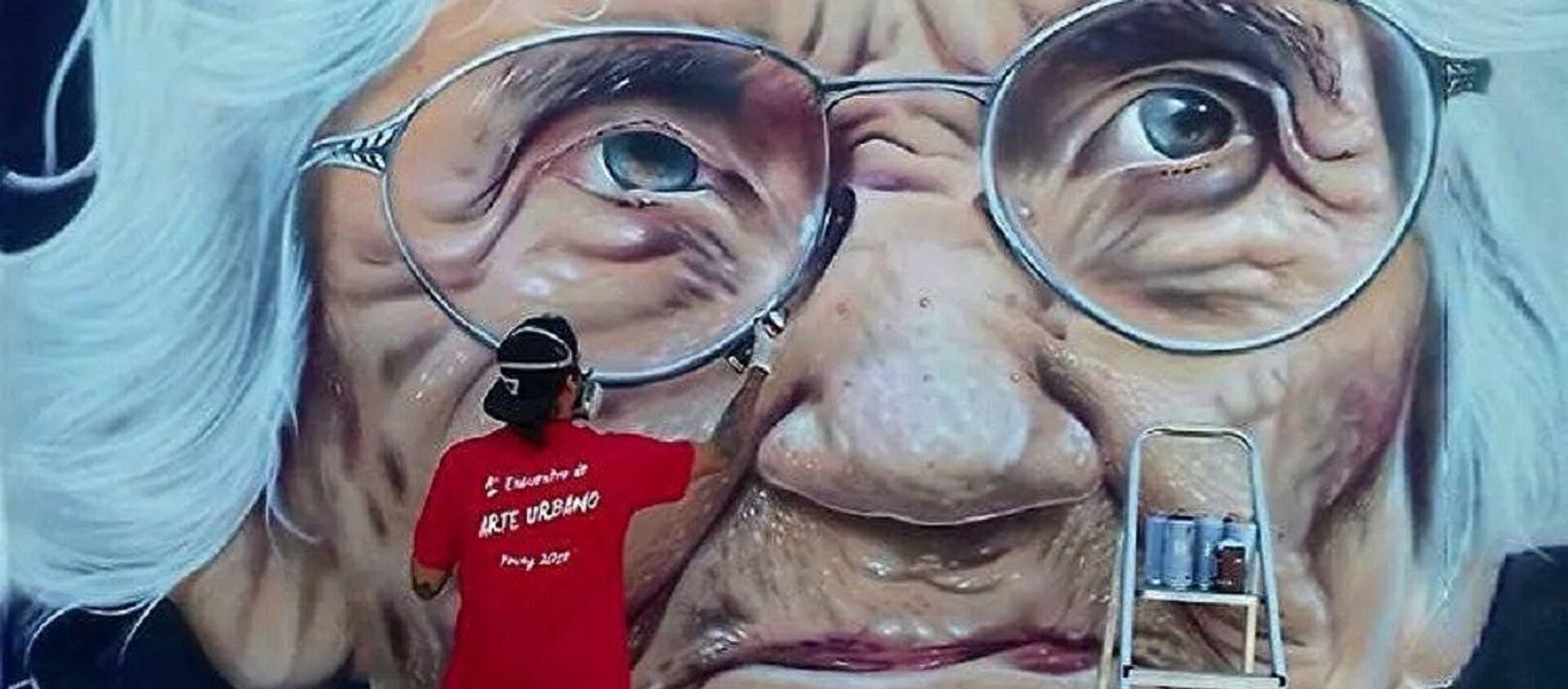 Mural de la activista por los DDHH Luisa Cuesta en Uruguay pintado por José Gallino - Sputnik Mundo, 1920, 10.12.2020