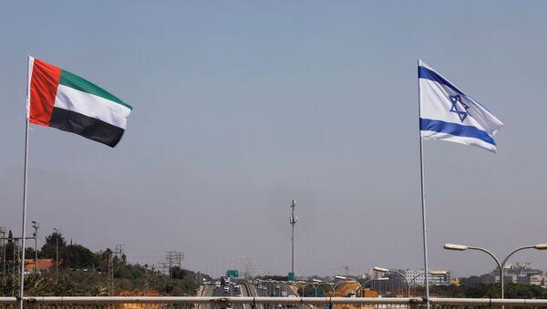 Banderas de Emiratos Árabes e Israel - Sputnik Mundo