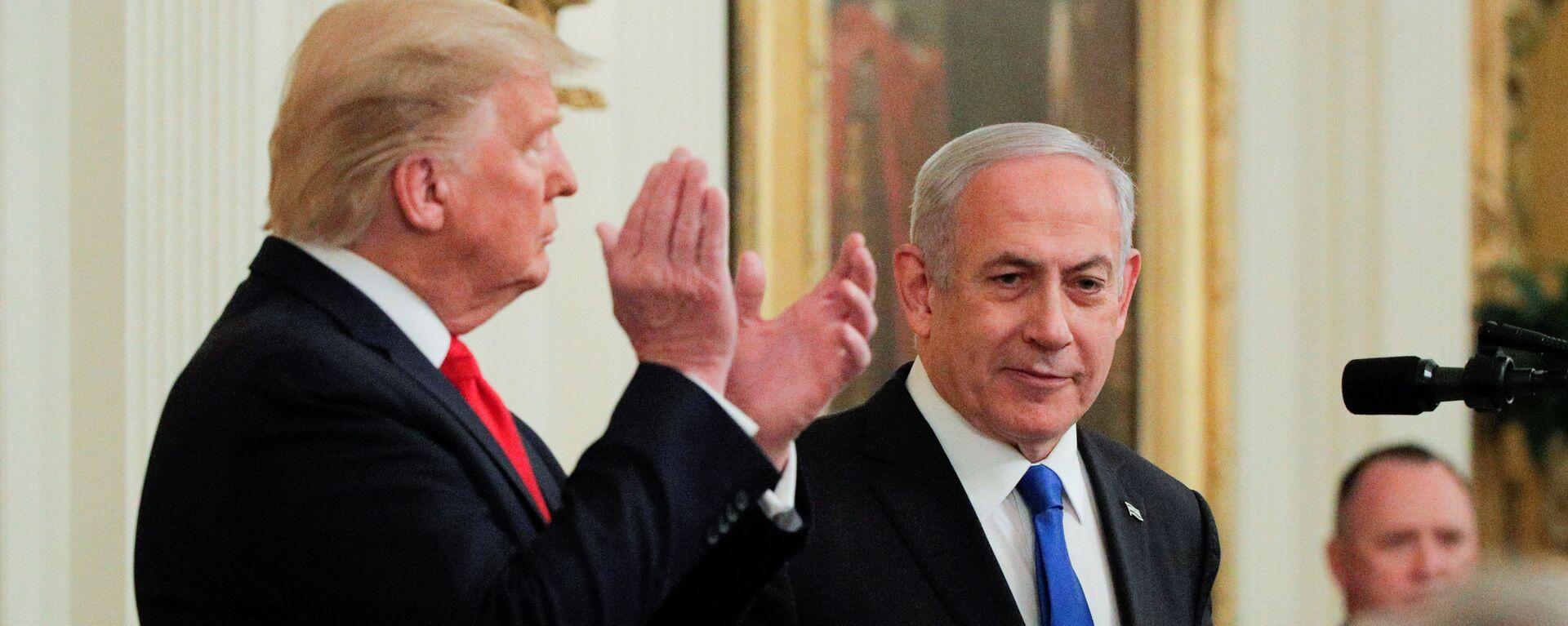 Benjamín Netanyahu, primer ministro de Israel y Donald Trump, presidente de EEUU - Sputnik Mundo, 1920, 08.09.2020