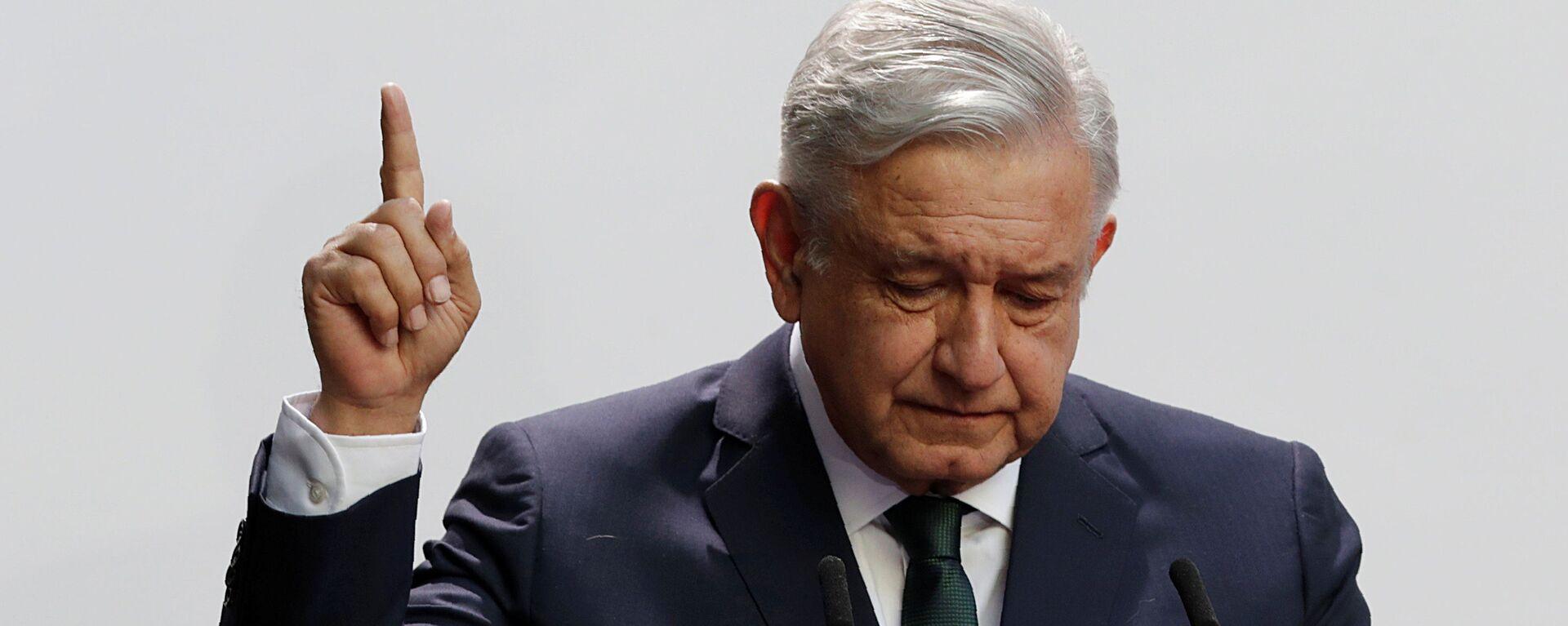 Andres Manuel López Obrador, presidente de México - Sputnik Mundo, 1920, 28.09.2020