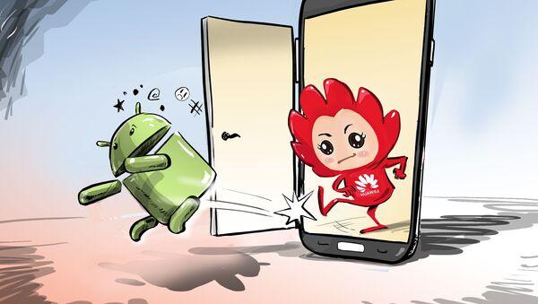 Huawei 'patea el trasero' a Google con su propio sistema operativo - Sputnik Mundo