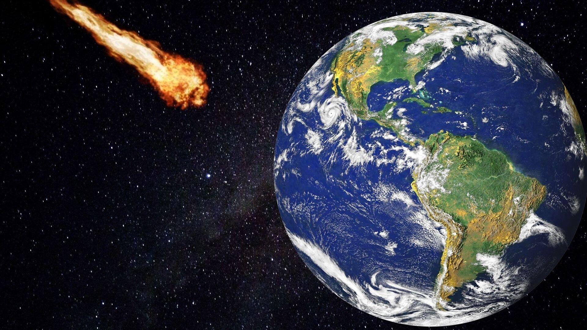 Un meteorito a punto de impactar contra la Tierra - Sputnik Mundo, 1920, 17.09.2021