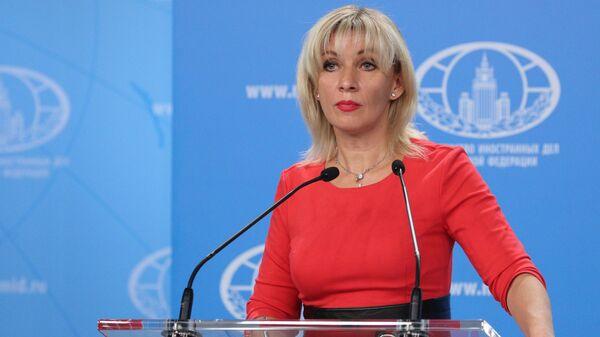 La portavoz del Ministerio ruso de Exteriores, María Zajárova. - Sputnik Mundo