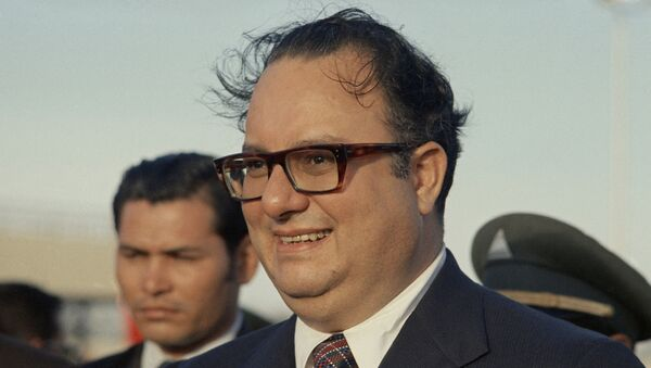 El exdictador nicaragüense Anastasio Somoza en 1972 - Sputnik Mundo