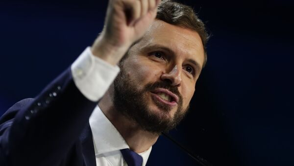 Pablo Casado, líder del PP - Sputnik Mundo