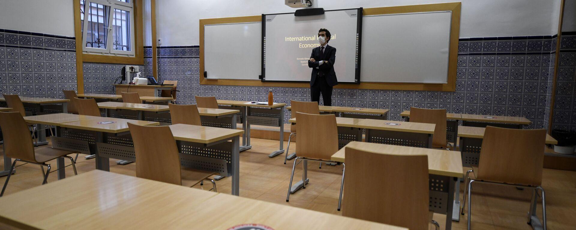 Foto referencial de un aula vacía - Sputnik Mundo, 1920, 23.02.2021