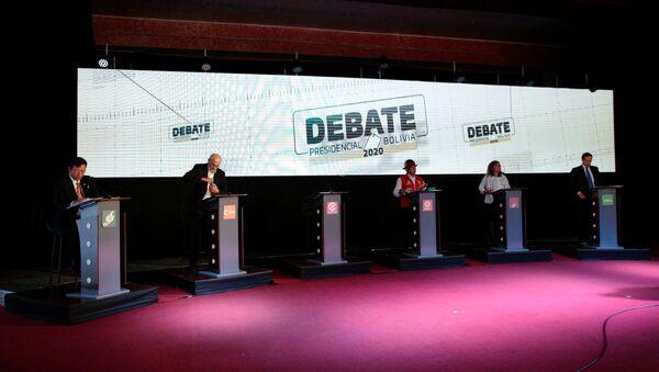 Debates presidenciales en Bolivia - Sputnik Mundo