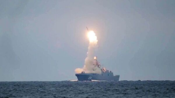 Lanzamiento del misil hipersónico Tsirkon (archivo) - Sputnik Mundo