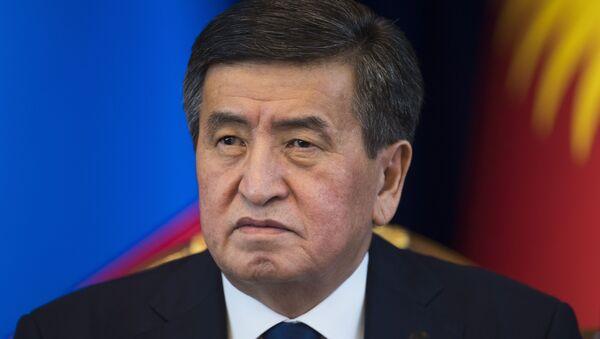 Sooronbái Zheenbékov, presidente de Kirguistán - Sputnik Mundo
