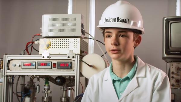 Jackson Oswalt, joven científico estadounidense - Sputnik Mundo