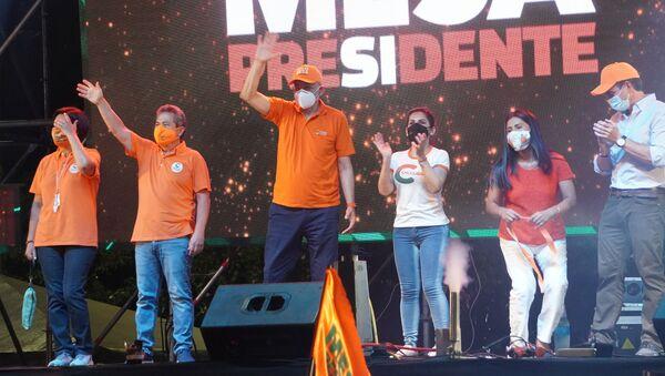 Acto de campaña en apoyo al candidato Carlos Mesa - Sputnik Mundo