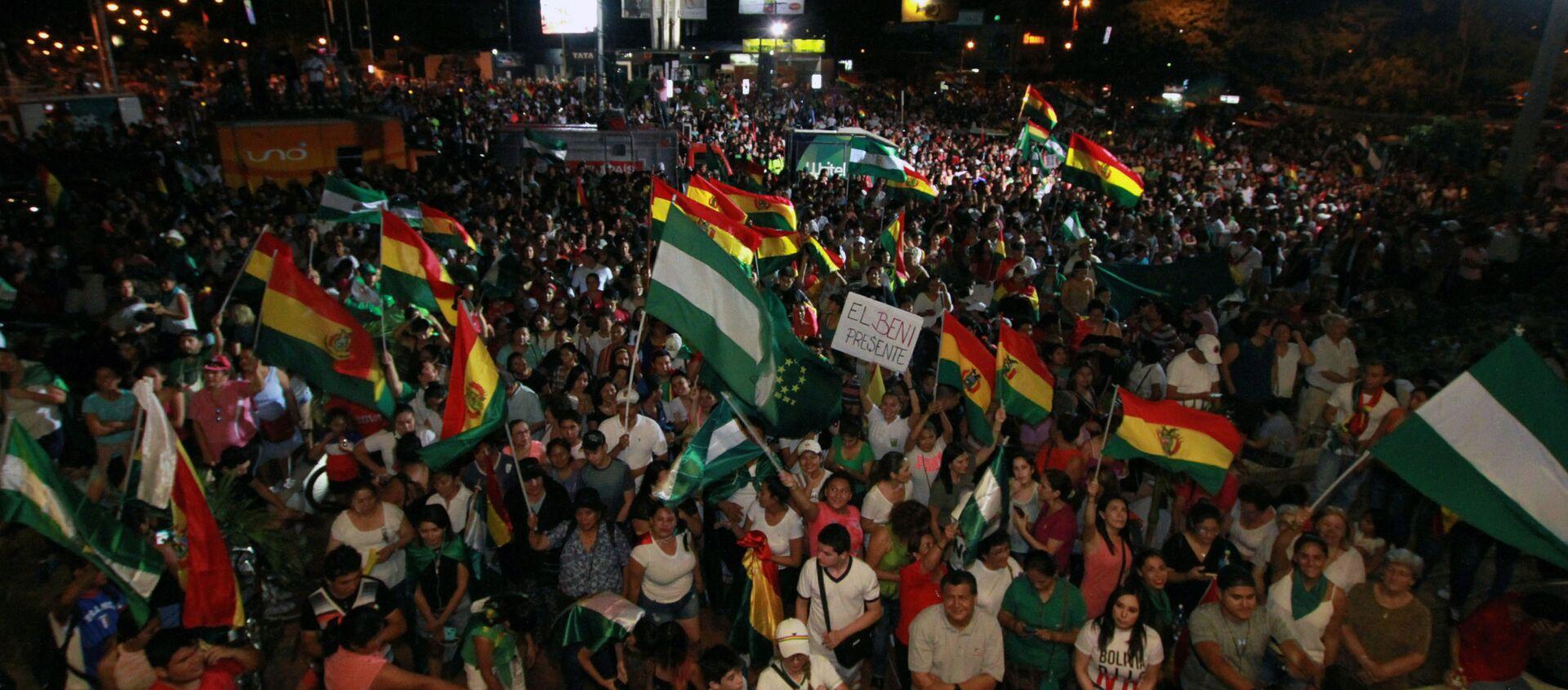 Protestas en Santa Cruz, Bolivia - Sputnik Mundo, 1920, 28.10.2020