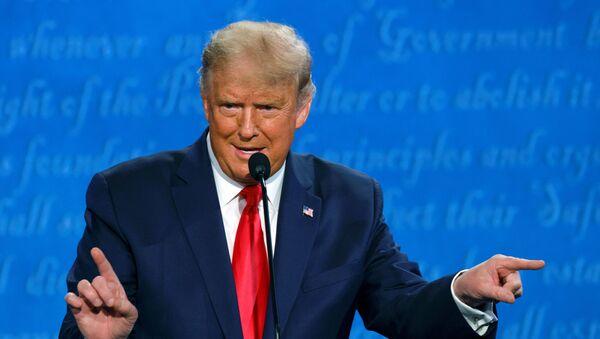 Donald Trump, presidente de EEUU, durante los debates con el candidato a la presidencia Joe Biden - Sputnik Mundo