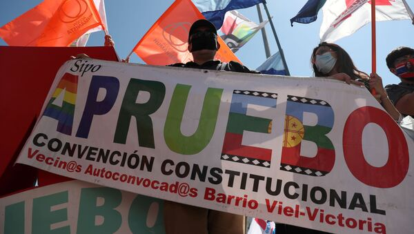 Manifestaciones en Santiago, Chile - Sputnik Mundo