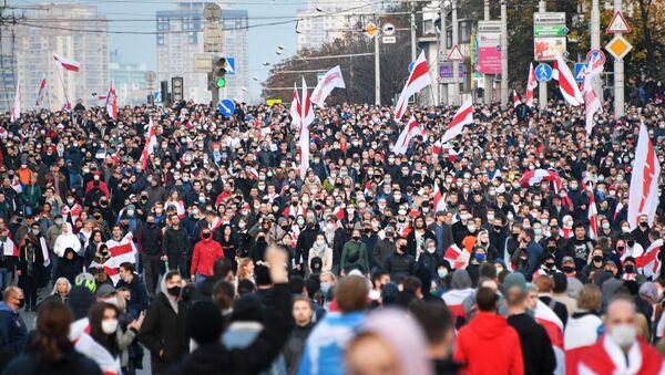 Protestas en Minsk Ultimátum del Pueblo - Sputnik Mundo