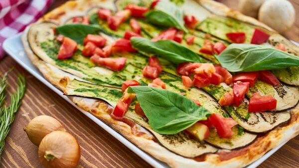Una pizza vegana (imagen referencial) - Sputnik Mundo