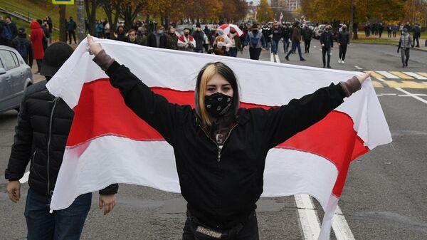 Protestas en Misnk, Bielorrusia - Sputnik Mundo