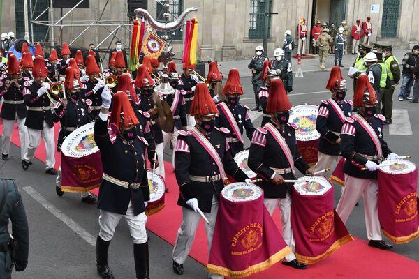 La banda del Ejército de Bolivia participa de la ceremonia de investidura del presidente Luis Arce Catacora - Sputnik Mundo