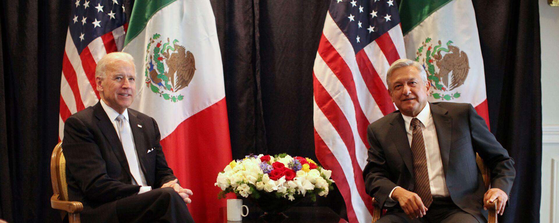 Joe Biden y Andrés Manuel López Obrador, 2012 - Sputnik Mundo, 1920, 11.08.2021