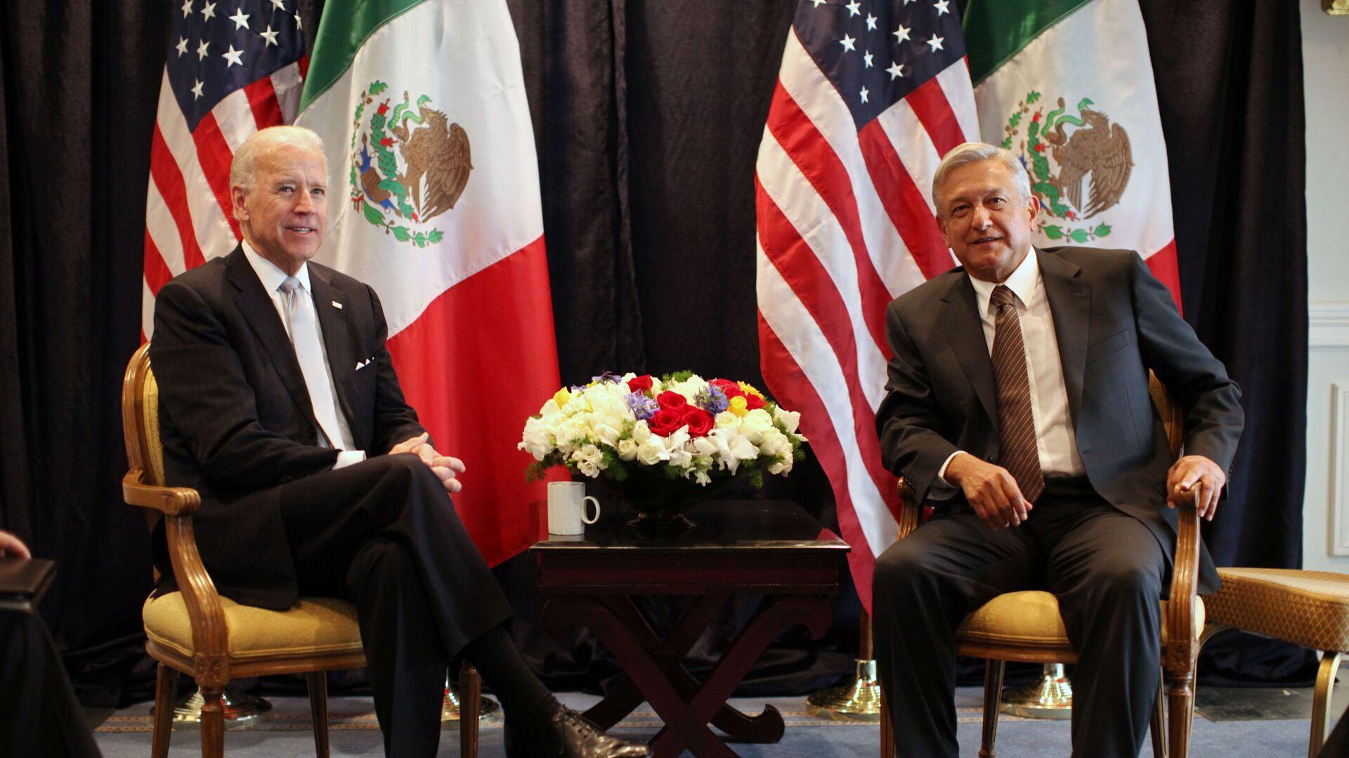 Joe Biden y Andrés Manuel López Obrador, 2012 - Sputnik Mundo, 1920, 25.03.2021