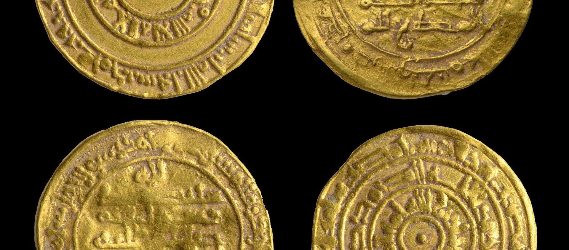 Monedas de oro milenarias halladas en una jarra de cerámica cerca del Muro de las Lamentaciones, en Jerusalén - Sputnik Mundo, 1920, 10.11.2020