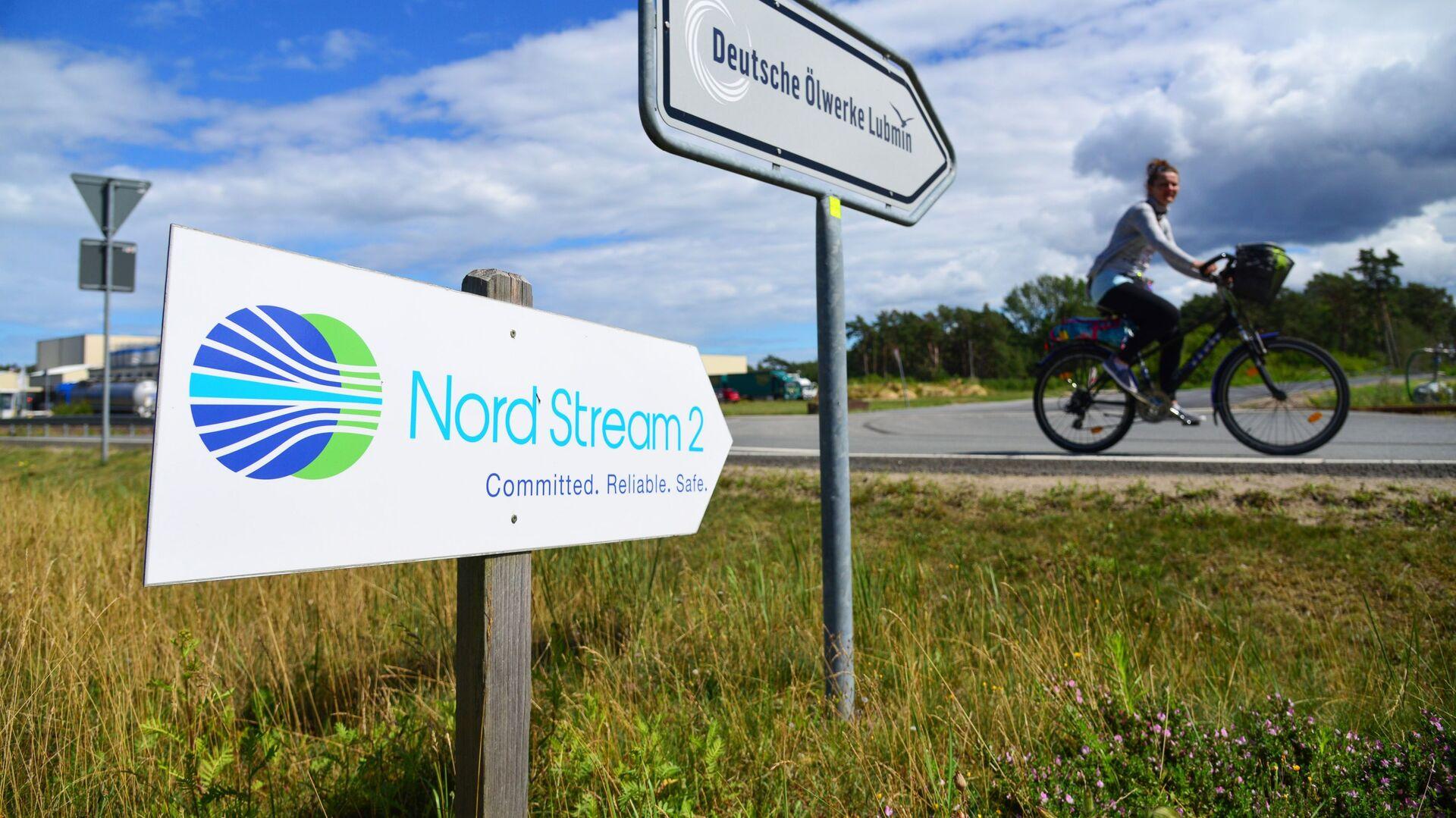 Una señal de Nord Stream 2 en Alemania - Sputnik Mundo, 1920, 10.09.2021