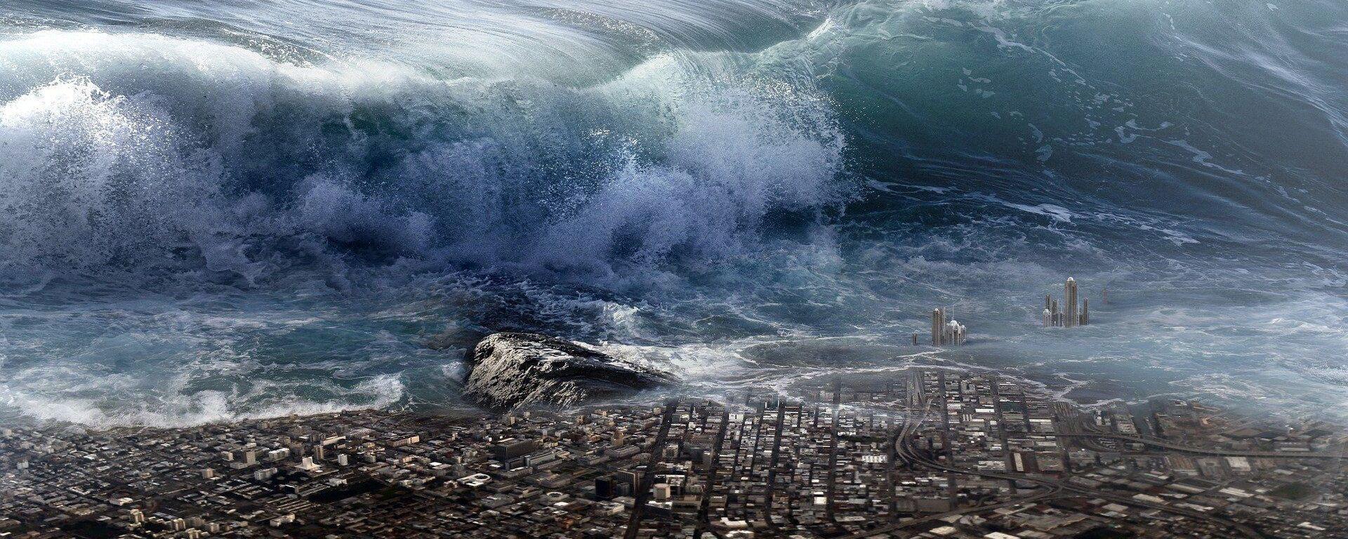Tsunami (imagen referencial) - Sputnik Mundo, 1920, 14.11.2020