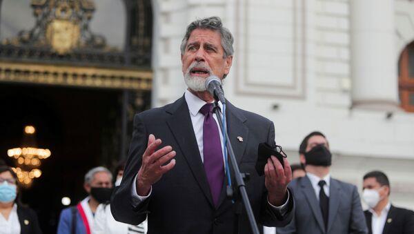 Francisco Sagasti, presidente interino de Perú - Sputnik Mundo