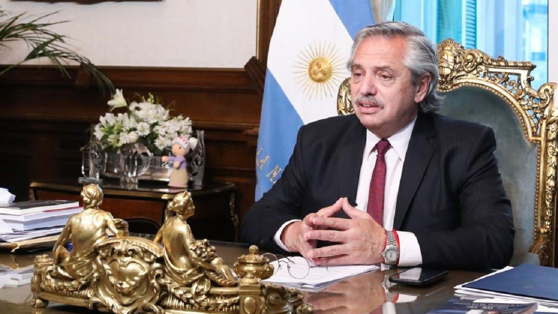 El presidente de Argentina, Alberto Fernández - Sputnik Mundo, 1920, 13.09.2021