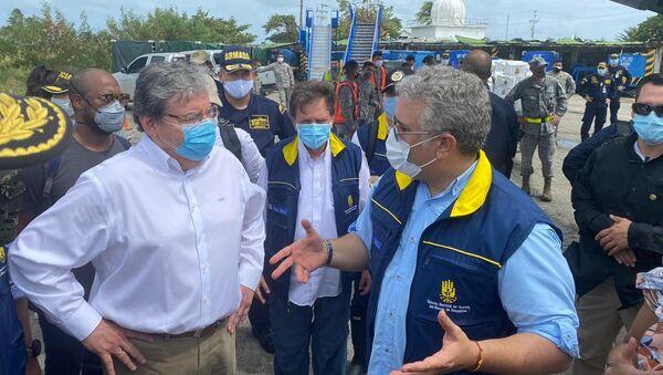 El presidente de Colombia, Iván Duque, en San Andrés - Sputnik Mundo