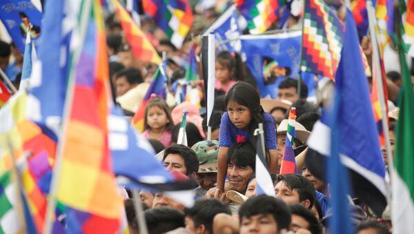 Militantes del Movimiento Al Socialismo (MAS) de Bolivia se reunieron en la Casa Campestre de Cochabamba para definir la manera en que elegirán candidatas y candidatos para las elecciones subnacionales del 7 de marzo de 2021, cuando se votará a gobernadores para los nueve departamentos, alcaldes y concejales para los 339 municipios del Estado Plurinacional. - Sputnik Mundo