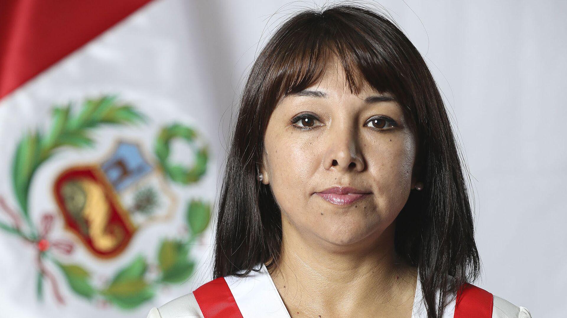 Mirtha Vásquez Chuquilín, presidenta del Congreso de Perú - Sputnik Mundo, 1920, 07.10.2021
