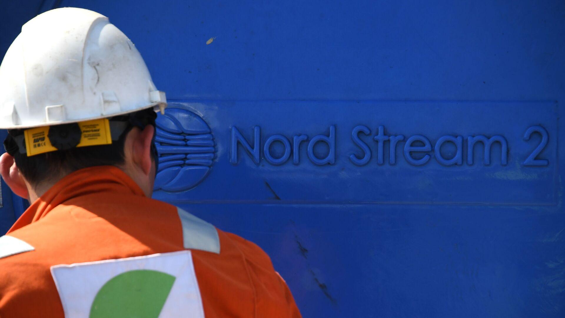 Un empleado invoclucrado en la construcción del gasoducto Nord Stream 2 - Sputnik Mundo, 1920, 12.02.2021