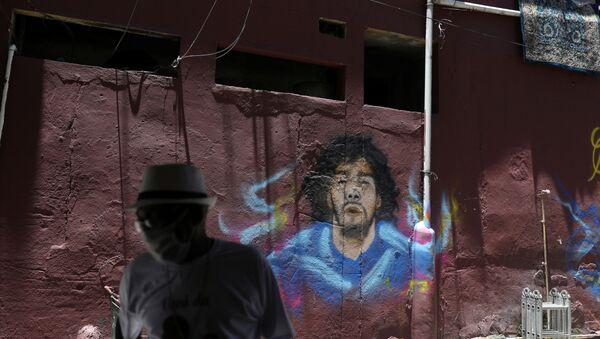 Grafiti de Diego Maradona - Sputnik Mundo
