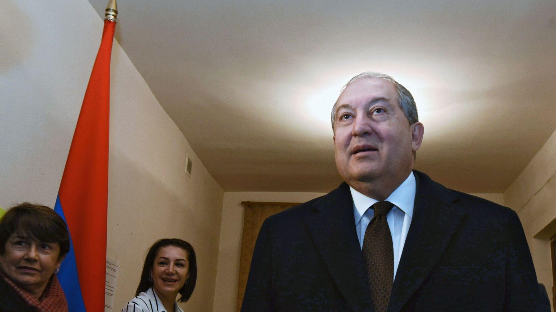 Armén Sarkisián, el presidente de Armenia - Sputnik Mundo, 1920, 04.03.2021