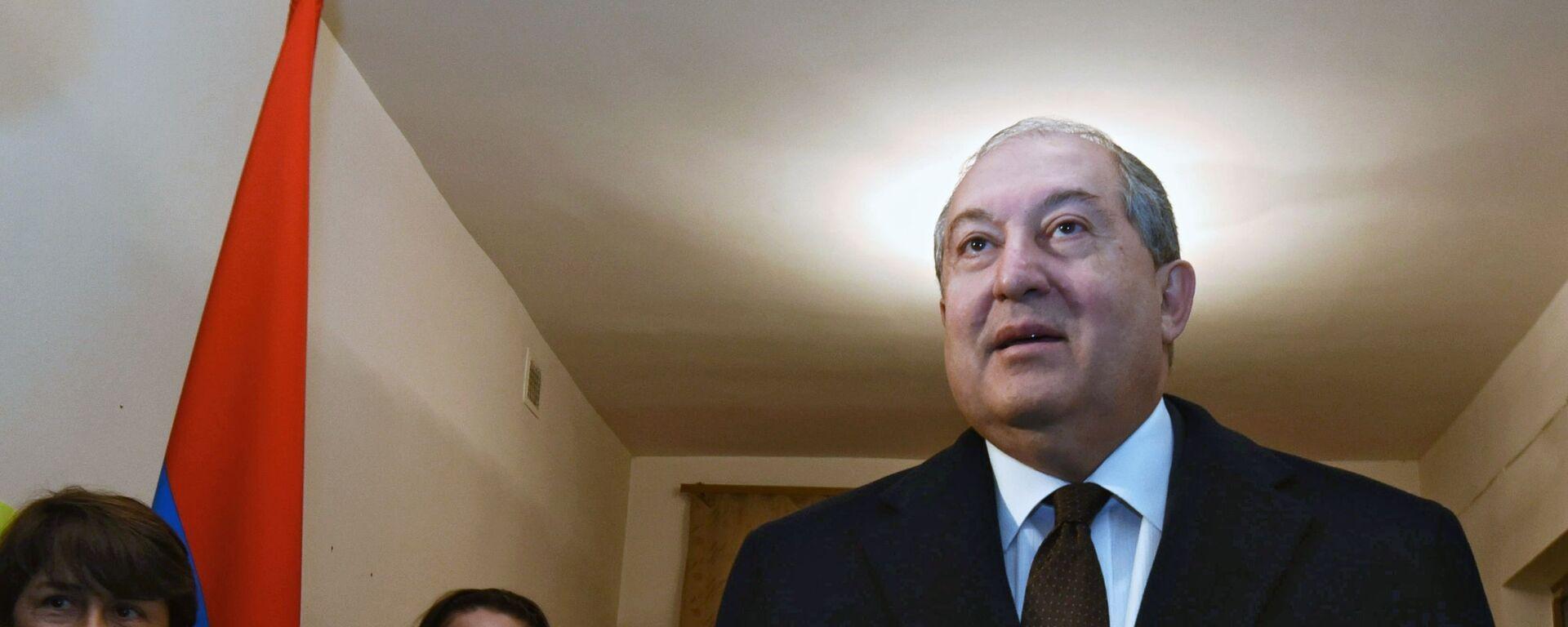 Armén Sarkisián, el presidente de Armenia - Sputnik Mundo, 1920, 20.07.2021