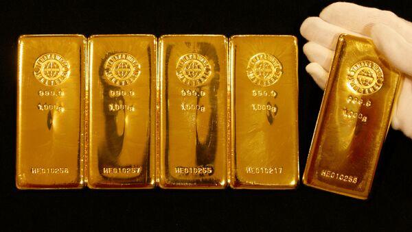 Unas barras de oro (archivo) - Sputnik Mundo