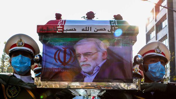 El funeral del físico nuclear iraní, Mohsen Fajrizade - Sputnik Mundo