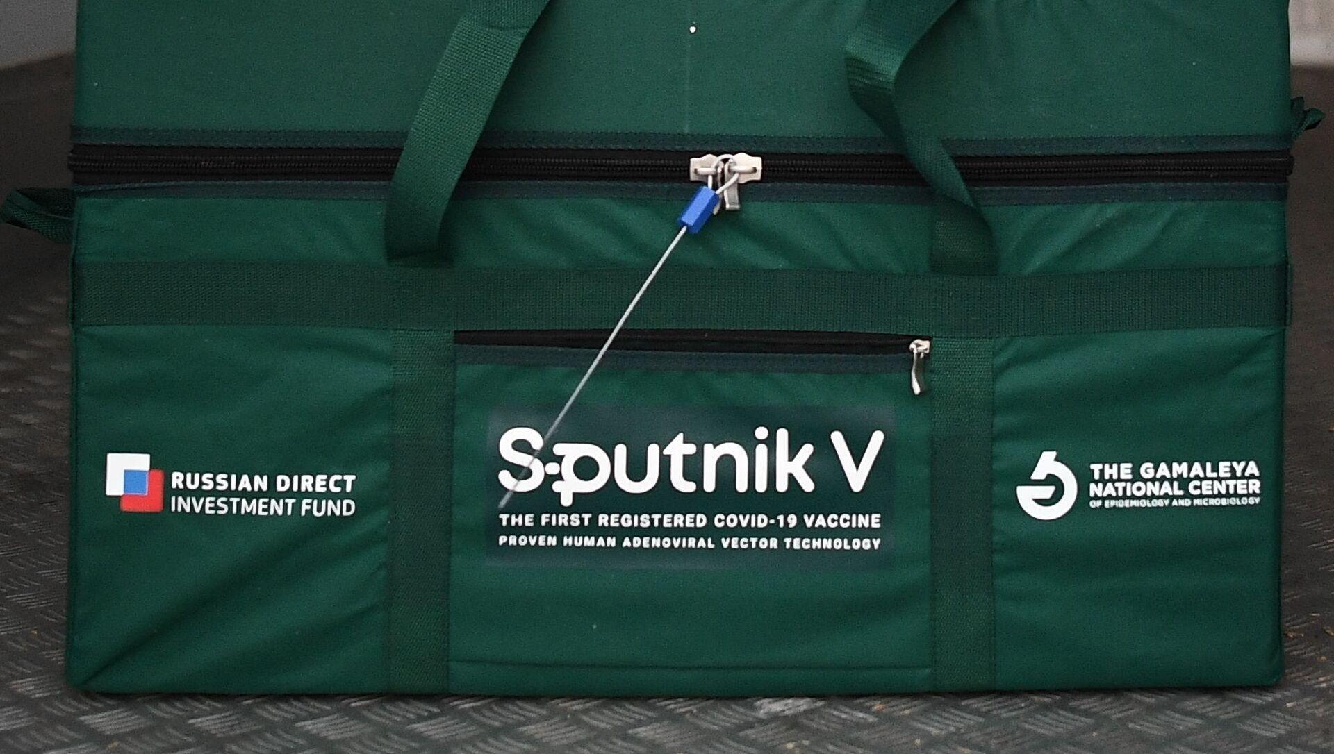 Un contenedor con la vacuna contra el coronavirus Sputnik V - Sputnik Mundo, 1920, 03.02.2021