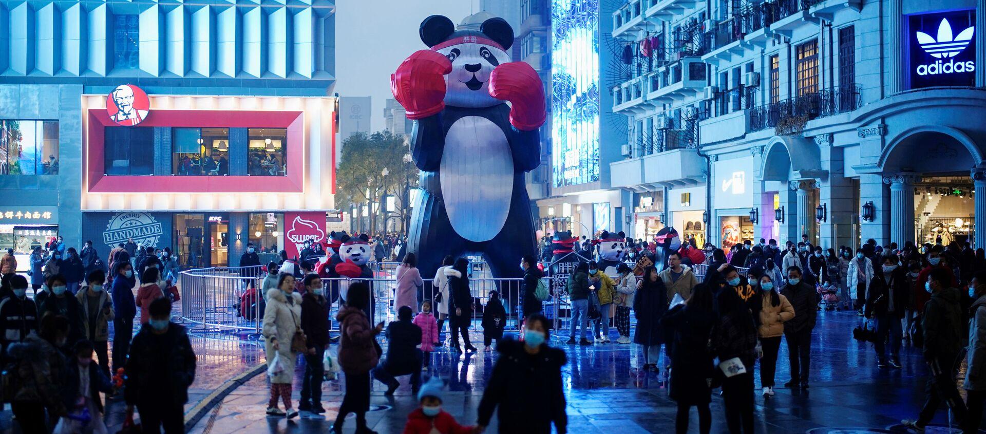 Gente en las calles de Wuhan, China (diciembre de 2020) - Sputnik Mundo, 1920, 02.01.2021