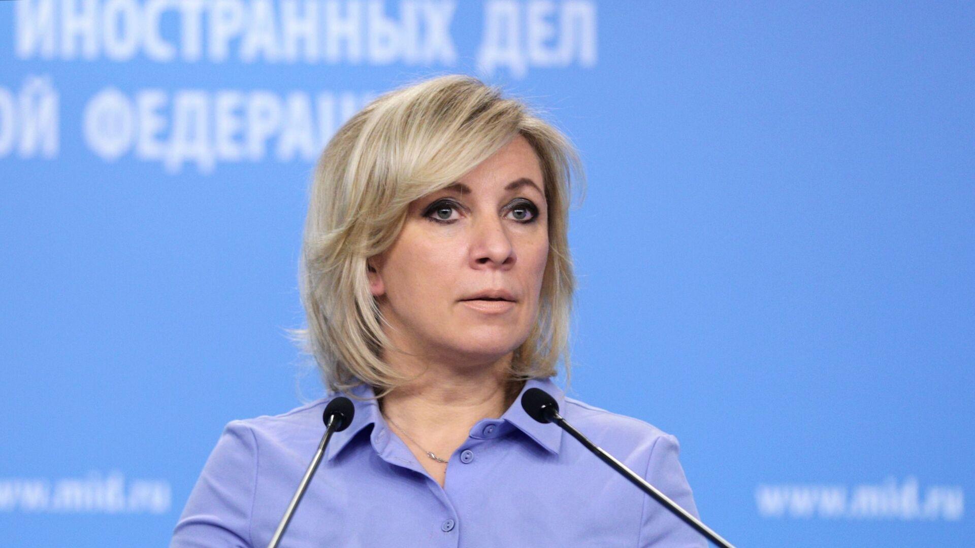 María Zajárova, portavoz del Ministério de Exteriores de Rusia - Sputnik Mundo, 1920, 17.03.2021