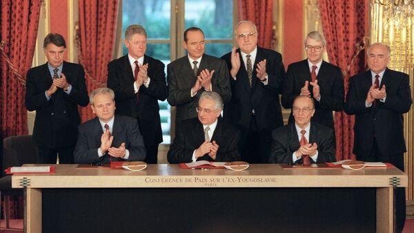La firma de los acuerdos de Dayton - Sputnik Mundo