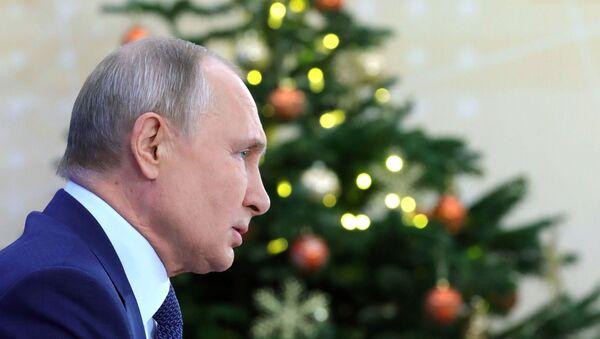 La gran rueda de prensa anual del presidente ruso, Vladímir Putin (archivo) - Sputnik Mundo