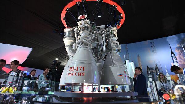El motor cohete RD-171, presentado en el Salón Internacional Aeroespacial MAKS-2019 - Sputnik Mundo
