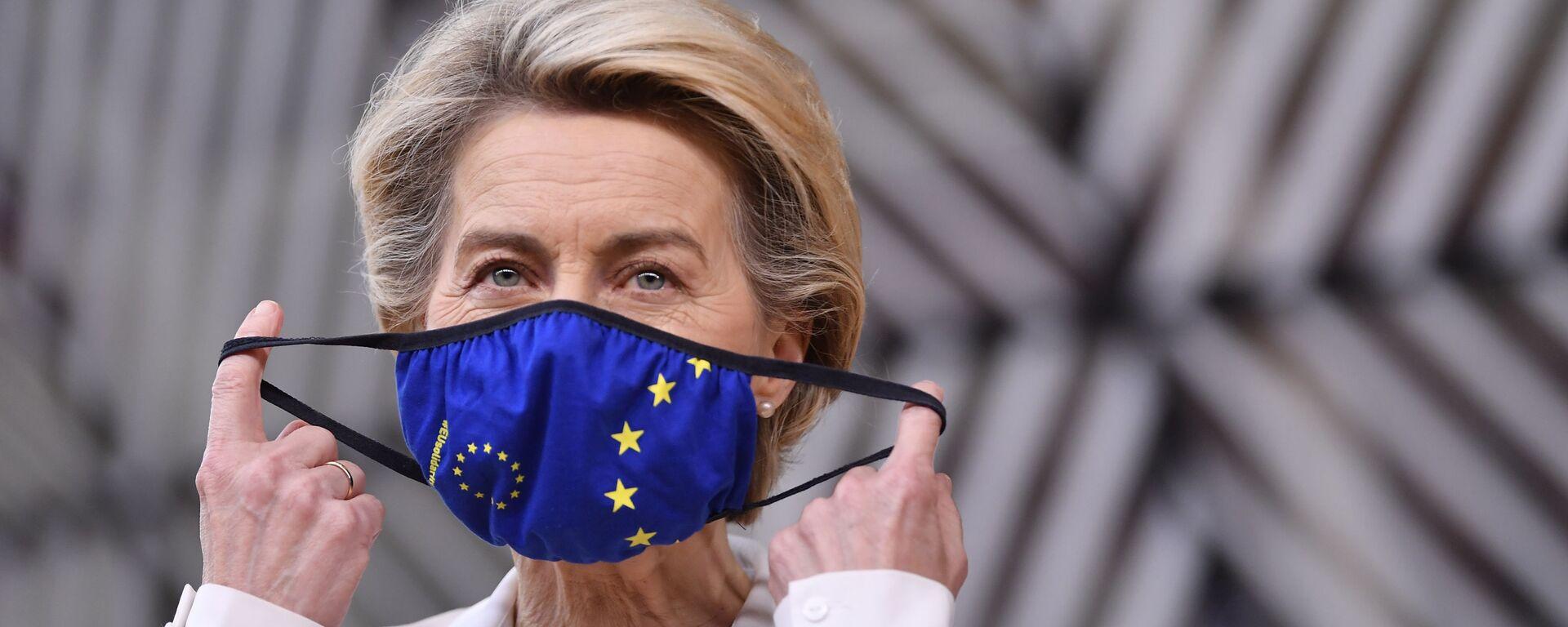 La presidenta de la Comisión Europea, Ursula von der Leyen - Sputnik Mundo, 1920, 26.03.2021