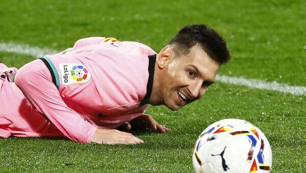 El delantero del FC Barcelona Lionel Messi durante el partido contra el Valladolid - Sputnik Mundo
