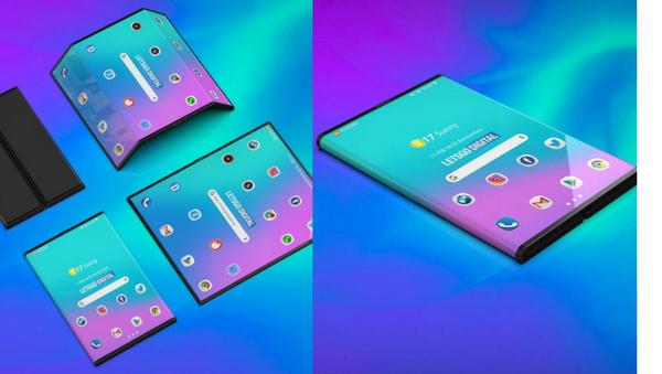 Un concepto del 'smartphone' plegable de Xiaomi (imagen referencial) - Sputnik Mundo