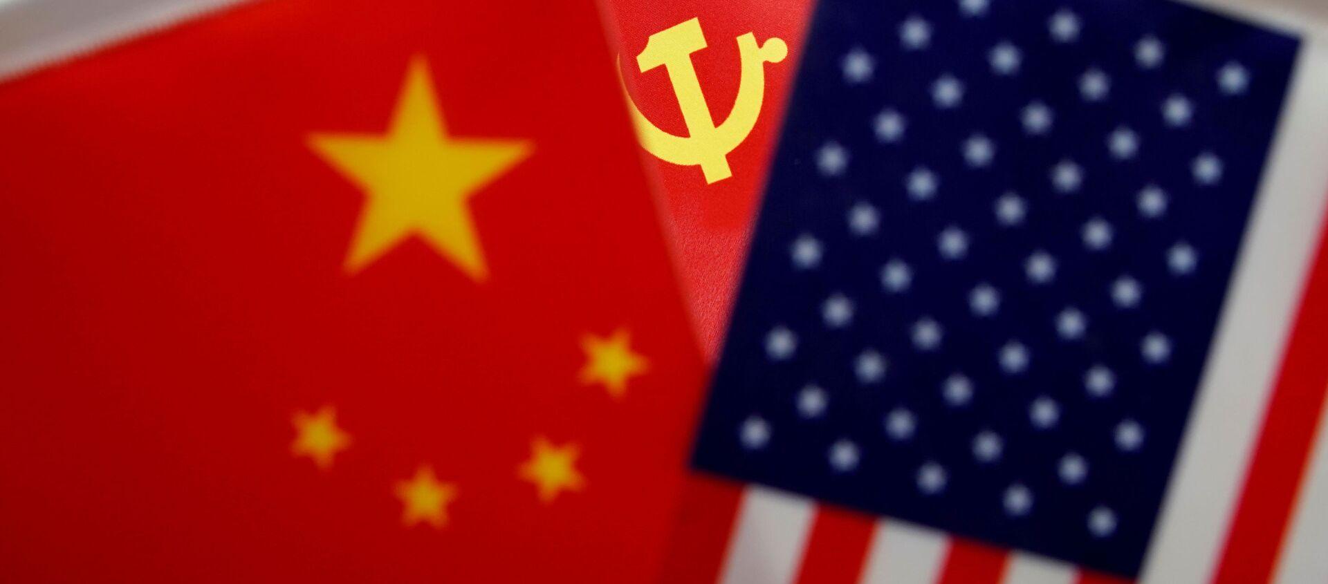 Las banderas de China, el partido comunista chino y EEUU - Sputnik Mundo, 1920, 18.01.2021