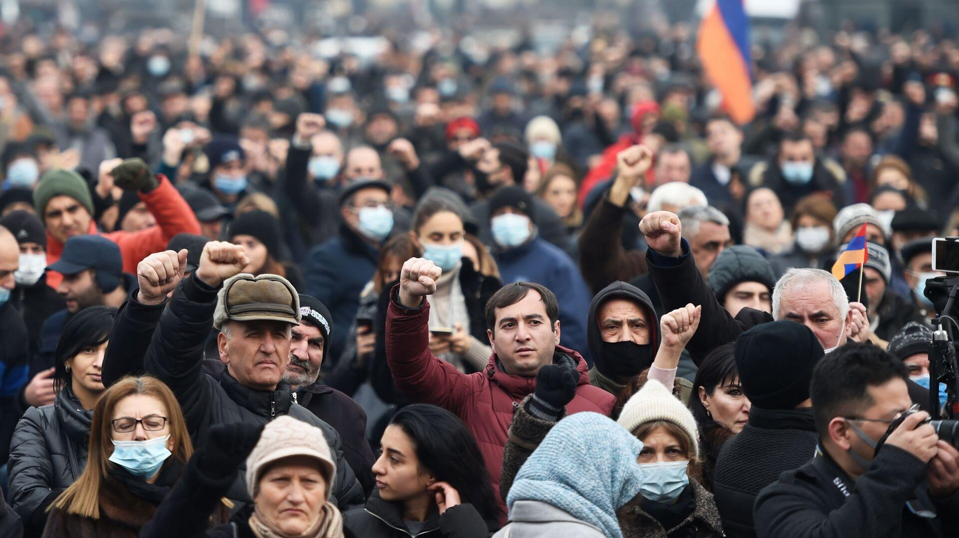 Protestas en Yereván, Armenia - Sputnik Mundo, 1920, 10.03.2021
