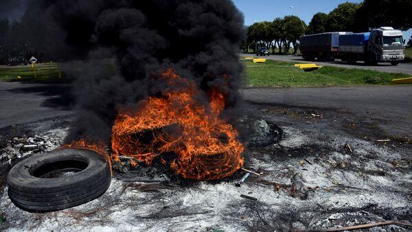 Huelga de los aceiteros en Argentina - Sputnik Mundo